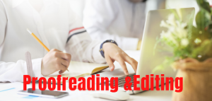 I will proofread and edit any writing and provide corrections up to 500 words