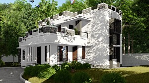 I will Produce high quality realistic architectural 3D rendering