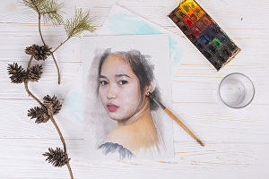 I will paint a unique watercolor portrait for you