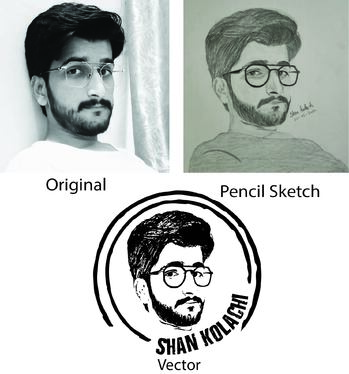 convert or create vector of raster images, logos & sketch arts