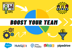 I will setup Zoho, Pipedrive, Podio, Hubspot CRM for marketing and project management