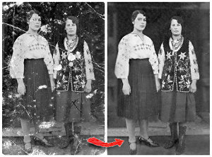 I will restore old photos, fix, and colorize in 24 hours