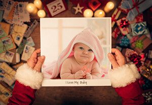 I will design memorable photograph of your baby