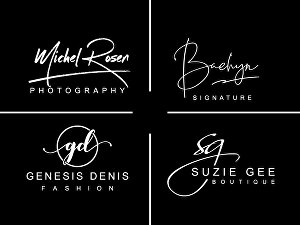 I will Do Signature Photography Boutique And Fashion Logo Design