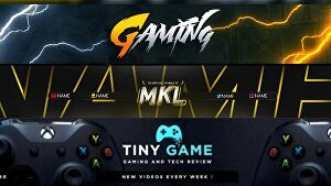 I will design youtube gaming channel art or gaming banner