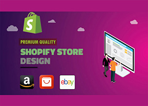 I will design shopify drop shipping store