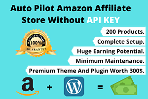I will create an autopilot Amazon affiliate store without API Key
