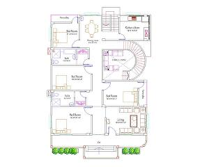 I will create an architectural floor plan within one day