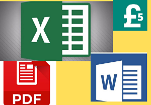 I will convert pdf to word or excel