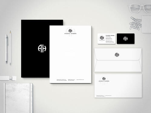 design logo, business card and stationery
