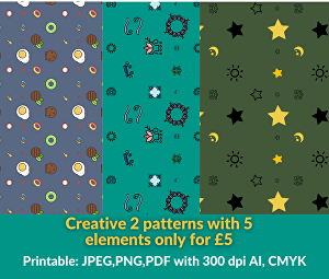I will do creative, unique & high quality professional pattern design for print and web