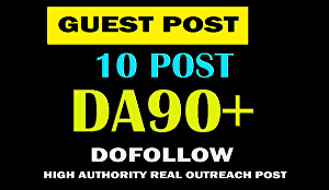I will do guest post on DA 91 site with dofollow and permanent link