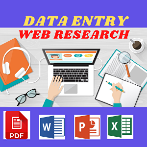 I will do  3 Hours Data Entry, Web Research, PDF Conversion