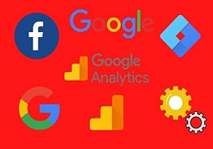 I will setup google analytics tag manager and Facebook pixel