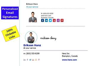 I will design clickable email signature: beautiful and professional
