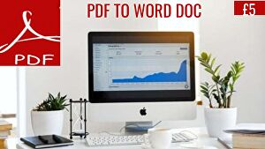 I will Convert 10 Pages Of PDF Document To Word Document