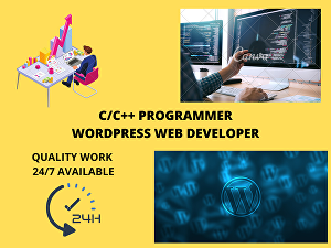 I will develop quality programs in C/C++ and design websites for you using WordPress