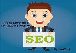 I will Create Powerful Article Directories & Wiki Contextual Backlinks For SEO Website Ra