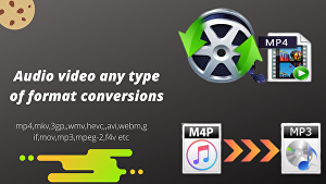 I will convert video to mp3,mp4 or other formats you desire