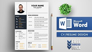I will Design a Professional Resume or CV