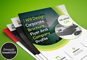 I will design creative brochure, flyer or company profile