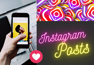 I will Create Engaging Instagram posts for your Page or Business