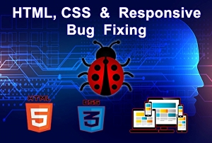 I will fix HTML CSS Bug and Responsive issue