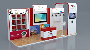 I will  design your 3d exhibition booth, stand & kiosk