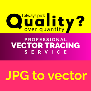 I will do raster to vector tracing