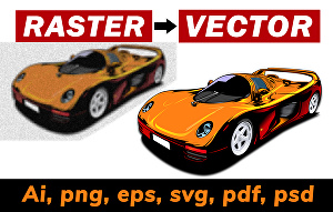I will vector trace, redesign, redraw your logo