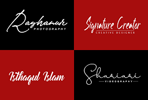 I will do signature logo design for you