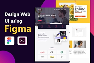 I will design web UI using Figma or adobe Xd
