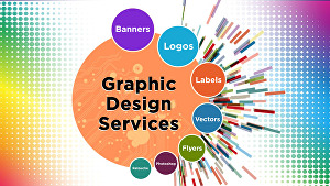I will do any kind of professional graphic design for you