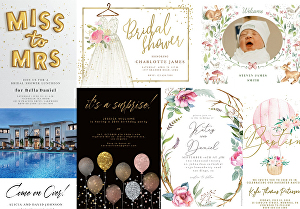 I will design customized greeting cards and invitations for any occasion