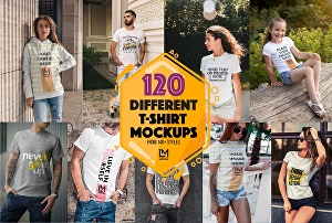 I will create 30 different realistic t-shirt mockup