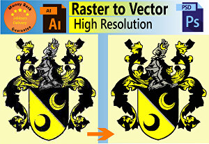 I will vectorize your logo, raster to vector, vector tracing
