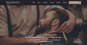 I will develop and design a barbershop website with  booking system