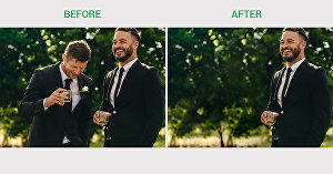I will remove object from image and merge photos in Photoshop