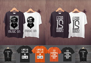 I will create vintage typography custom t shirt or hoodie design