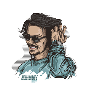 I will draw your photo into full colour line vector portrait