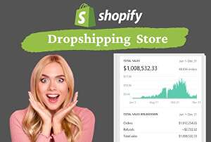 I will create shopify store, shopify website, dropshipping store