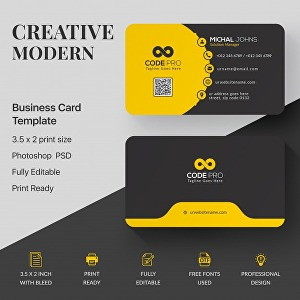 I will design business card and brand identity