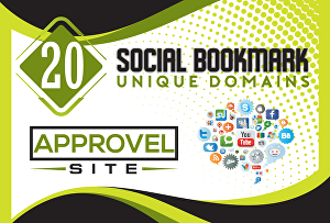I will provide you 20 high Quality Social Bookmark Backlinks for your website google top ranking