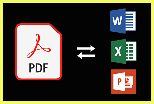 I will convert PDF to word, excel, powerpoint or jpg