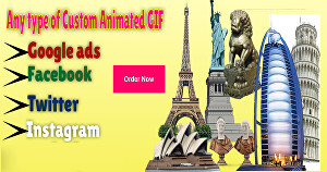 I will create animated GIF ad banners and animated web banner