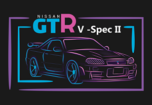 I will design sports car illustration for your t-shirt design