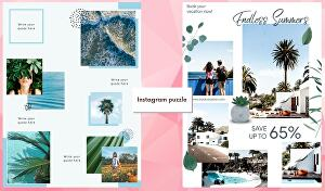 I will create instagram puzzle feed