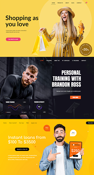 I will create wordpress website design, blog or online shop website design