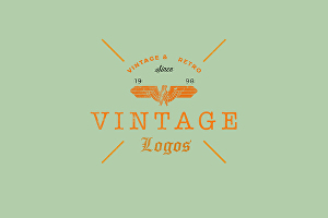 I will design a vintage or retro logo