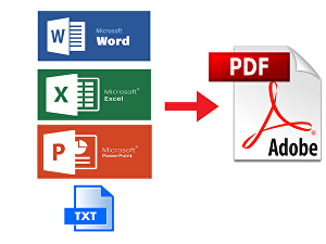 I will Convert Word, Excel, Power Point and Text file into PDF